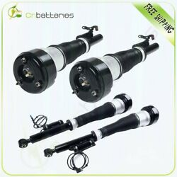 2 Pairs Front + Rear Air Suspension Struts For Mercedes W221 S500 S550 Cl500 Rwd