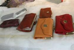 vintage purses clutches coin purses leather Rolf cowhide