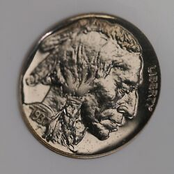 1937 Buffalo 5c Ngc Cac Certified Pf64 Proof Struck Us Minted Nickel Coin