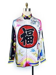 Rare Authentic Gianni Versace Silk Shirt Japanese Collection Size 54 1490