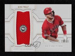 2020 Topps Definitive Collection Jumbo Relic /50 Mike Trout Djrc-mt