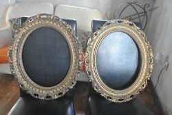 Vintage Wall Décor Antique Baroque Style Oval Picture / Mirror Frames