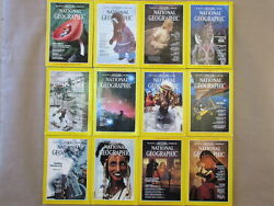 National Geographic Magazine Lot 1983-2003 All Issuesleather Casesinsertsmaps