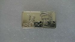 1.toz .999 Babe Ruth Silver Proof Bar By The Hamilton Mint.