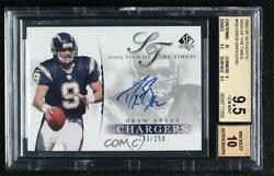 2003 Sp Authentic Sign Of The Times /250 Drew Brees Db Bgs 9.5 Auto