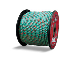 Blue Steelandtrade Rope - 1/2 X 600and039 Teal W/orange Tracer Truck Rope