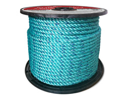 Cwc Blue Steelandtrade Rope - 5/16 X 1200and039 Teal W/dk Blue Tracer