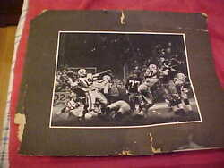 1950s Johnny Unitas In Action Baltimore Colts Antique Football Photo Nfl Old