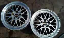 A Rare Pair 2 Of Used Bbs Lm 222 5x120 18x8.5 Et47 Wheels