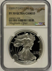 1999-p Silver Eagle Ngc Pf70 Ultra Cameo- Magnum Opus