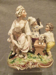 Frankenthal Porcelain Group Figure Of The Caring Mother Carl Theodor 1770and039s