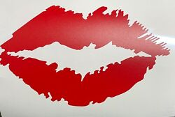 Lip Lipstick Vinyl Decal Matte Red. Removable for wall mirror laptop case