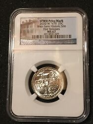 2020 W V75 25c Wwii Weir Farms Ngc Ms67 Privy Mark Quarter First Releases