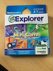 New Leap Frog Leapster Leap Pad Explorer Game Mini Game Greatest Hits 4-7 Yrs