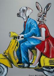 Gillie And Marc The Bigger Picture Mixed Media On Canvas Painting 122cm X 82cm