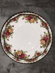 Royal Albert Bone China Old Country Roses Gold Trim 6 Place 12 Piece Set