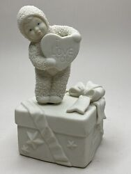 Dept 56 Snowbabies I Love You From The Bottom Of My Heart Valentine Music Box