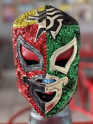 Mexican Wrestling Mask Of Lucha Libre Pro Grade Dr. Wagner Santo Silver King