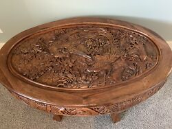 Antique Chinese Tea Table And Stools