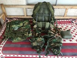 U.s. Military Lc-1 Combat Field Pack Frame Tactical Vest Canteen Poncho Gear Set