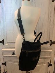 🇮🇹🖤new Hand Made In Italy Pandrsquoelle Suede Leather Large Tote Purse Black Soft