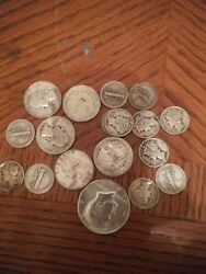 1 Troy Ounce Silver 90 Silver Us Coins And Gem Pcgs Ms65 1953-s Dime