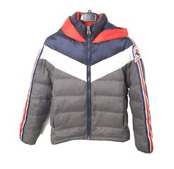 Marco Bomber With Hood Grey/navy/red Men's Jacket 4431595u-1462 Size Xl