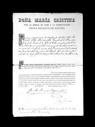 1887 Queen Regent Maria Christina Spain Signed Document Royal King Alfonzo Xiii