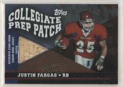 2003 Draft Picks And Prospects Collegiate Prep Foil /25 Justin Fargas Rookie Patch