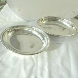 Vintage Pair Of Silver Plate A1 Open Serving Dish Dishes By Walker And Hall