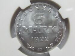 Top 3 Mark 1922 D In Brillant Uncirculated Ngc Top Pop Ms66 Very Rarely