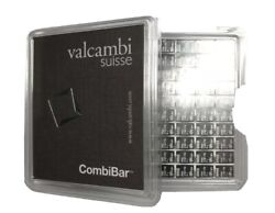 20 Pure Silver Valcambi Suisse All In 2 Rows Of 1 20 Gram Bars Bulk Discount
