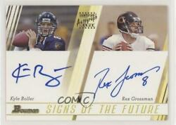 2003 Bowman Signs Of The Future Dual /50 Kyle Boller Rex Grossman Rookie Auto
