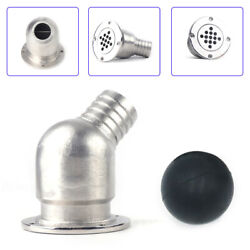 Boat Deck Drain Scupper With Ball For Hose 1-1/2 Inch Stainless Steel Usa