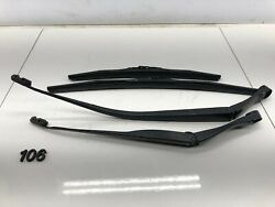 04-08 Acura Tl Front Passenger And Driver Side Windshield Wiper Arm W/ Blades Oem