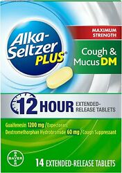 Alka Seltzer Plus Maximum Strength Cough And Mucus Dm Tablets | 14 Ct | 8 Pack