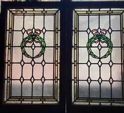 Matched Pair Stained Glass Windows