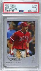 2013 Topps Wrapper Redemption Silver Slate /10 Mike Trout 338 Psa 9
