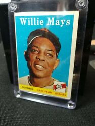 """1958 Topps Willie Mays,sports Trading Card """"rare"""", Misprint, One Of The Best"""
