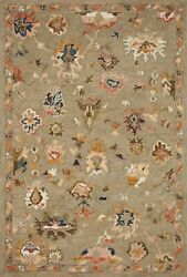 9and039 3 X 13and039 Loloi Rug Padma Grey Multi 100 Wool Pile Power Loomed