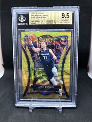 2019-20 Panini Select Gold Wave Premier Luka Doncic Bgs 9.5 Gem+ W/ Dual 10s