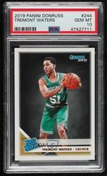 2019-20 Panini Donruss Rated Rookies Tremont Waters 244 Psa 10 Rookie