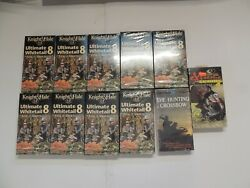 Lot Of 11 Vhs Tapes Ultimate Whitetail 8 Hunting Crossbow Xtreme Spring 4 Turkey