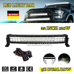 22 Inch 120w Curved Led Work Light Bar Offroad Suv 4x4wd Truck Atv Car Driving