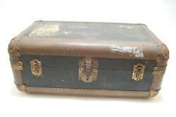Rare Vintage 1930's Indestructo Steamer Travel Trunk W/insert, Nice Condition