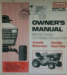 Sears Suburban Ss/16 Lawn Garden Tractor Owners And Parts Manual 917.25950 Gt Onan