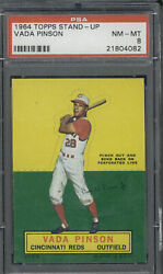 1964 Topps Stand-up Vada Pinson Psa 8 Nm-mt