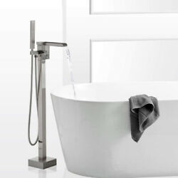 Waterfall Wall-mount Tub Faucet Handheld Shower Chrome Waterfall Spout Mixer Tap