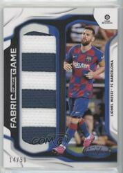 2019-20 Panini Chronicles Fabric Of The Game Prime /50 Lionel Messi Fg-lm