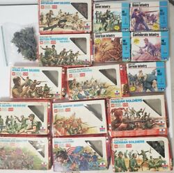 Large Lot Of 1/72 Scale Toy Soldiers Esci Mpc